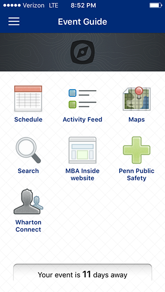 Pre-term app main screen