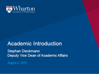 Academic Introduction